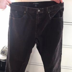 Banana Republic brown corduroy pants